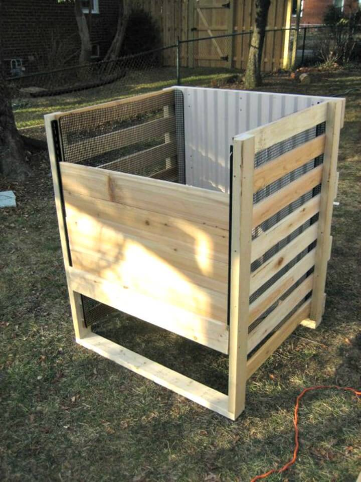 DIY Wood Frame Compost Bin