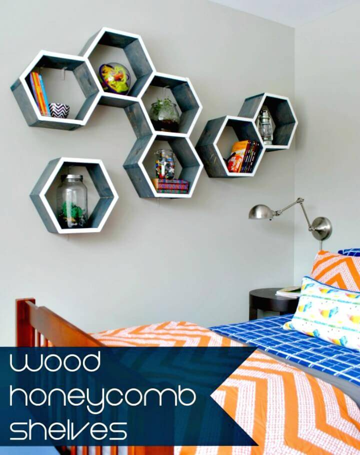 DIY Wood Honeycomb Shelves for Extra Space