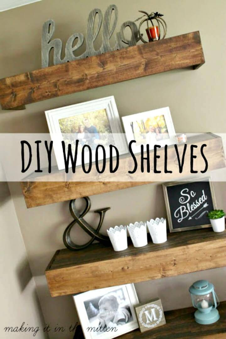 Easy Adorable DIY Wood Shelves