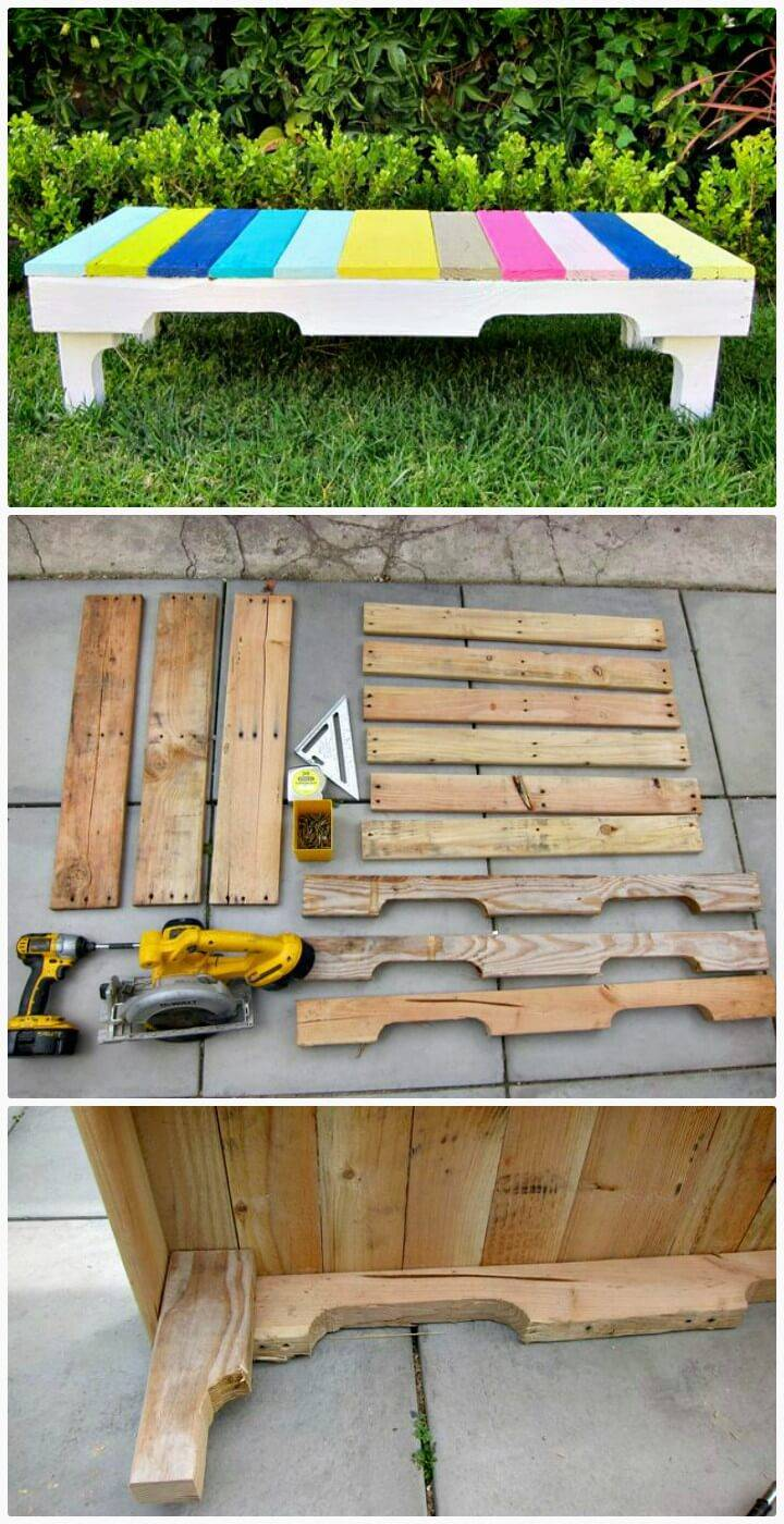 DIY Wooden Pallet Benches for Your Backyard
