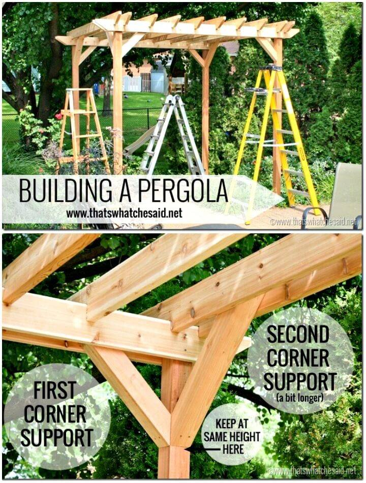 How To Make Pergola for Your Backyard  - DIY