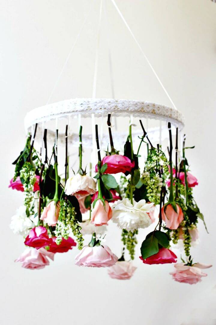 How To Make Flower Chandelier - DIY