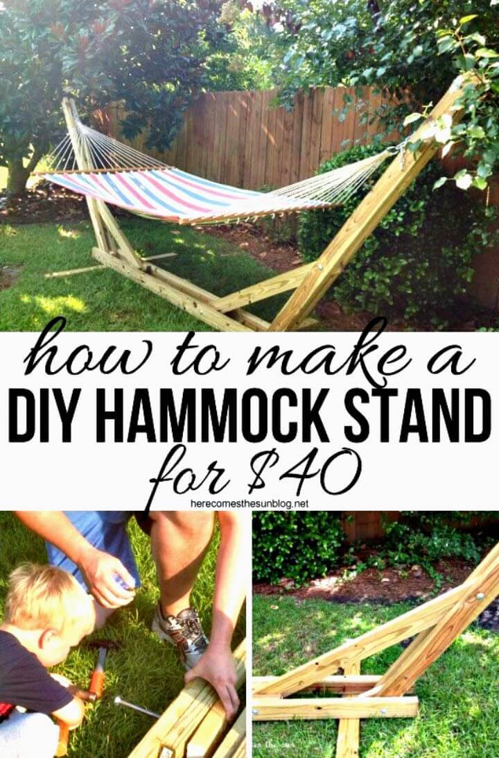 How to DIY Hammock Stand for Your Backyard