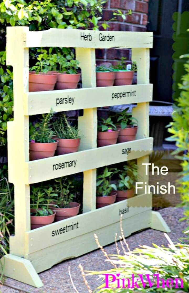 How to Make an Herb Garden from a Pallet - DIY Pallet Garden Project
