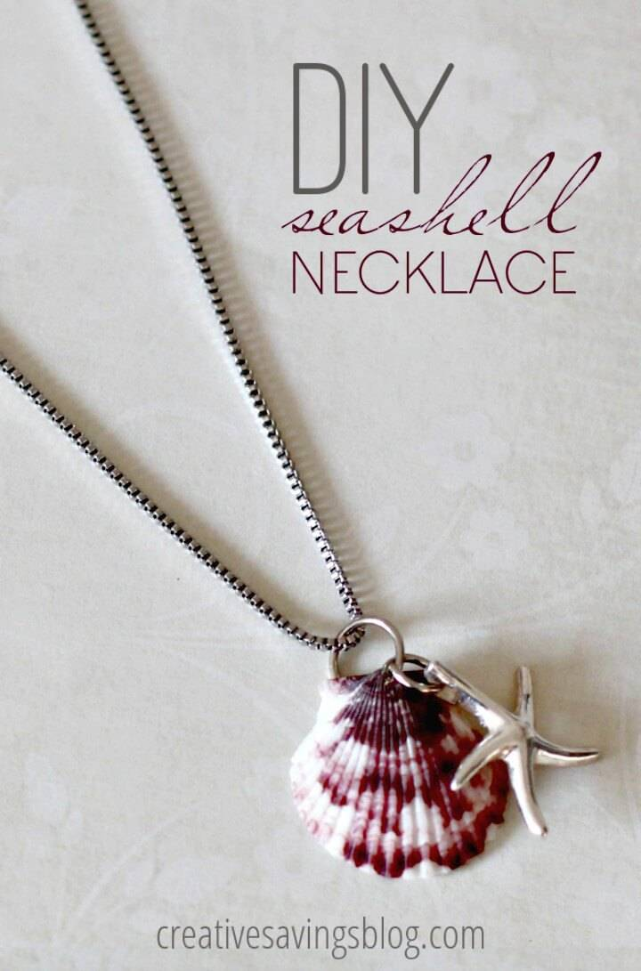 Adorable DIY Seashell Necklace