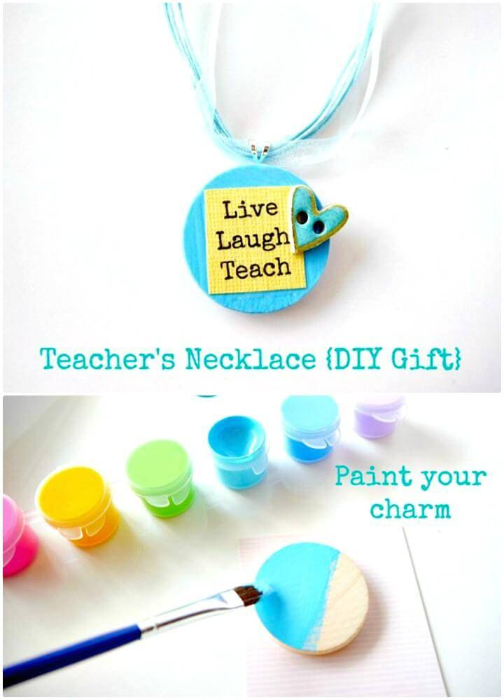 Adorable Teacher's Necklace - DIY Gift