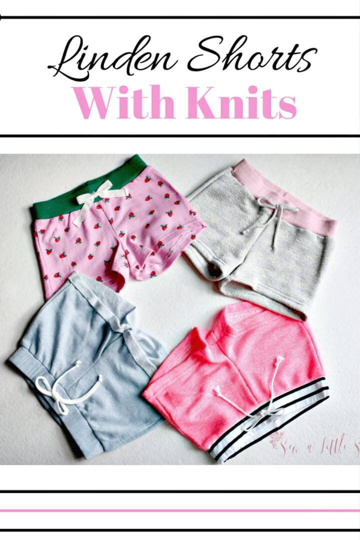 Adorable and Cute DIY Linden Shorts With Knit