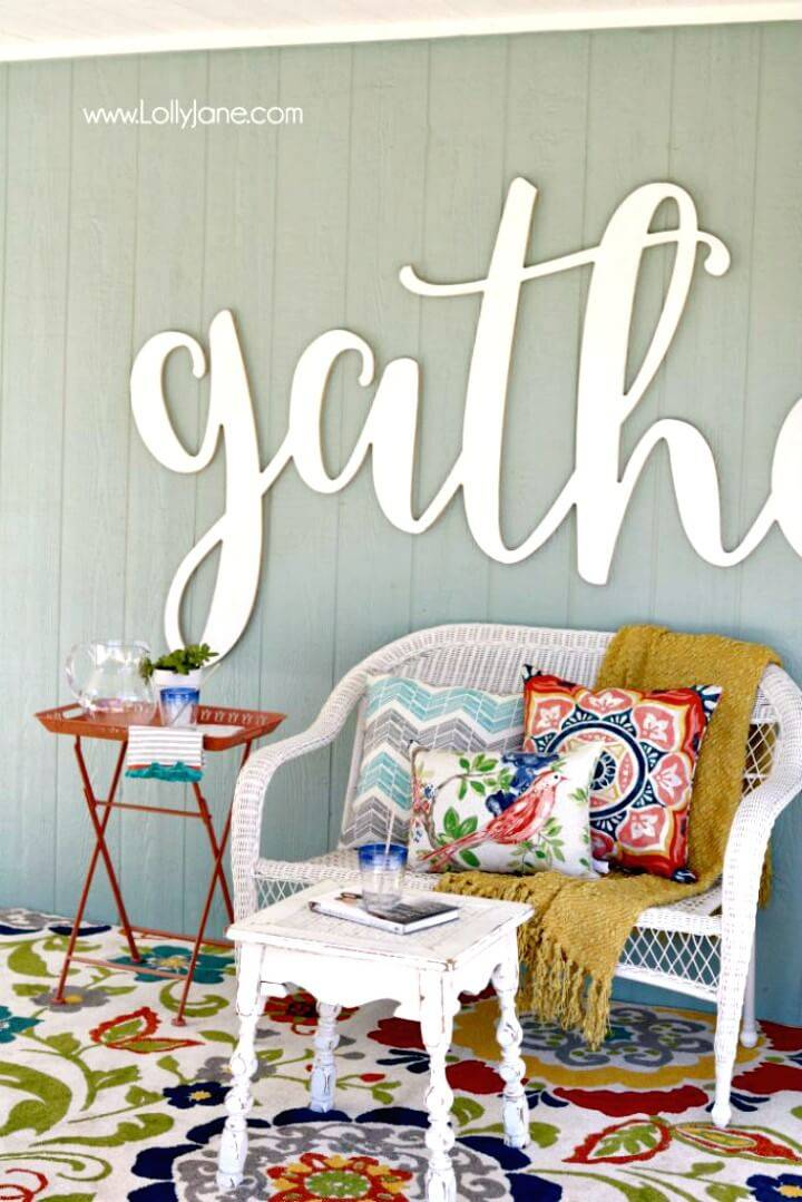 Affordable Make A Porch Patio Decor - DIY
