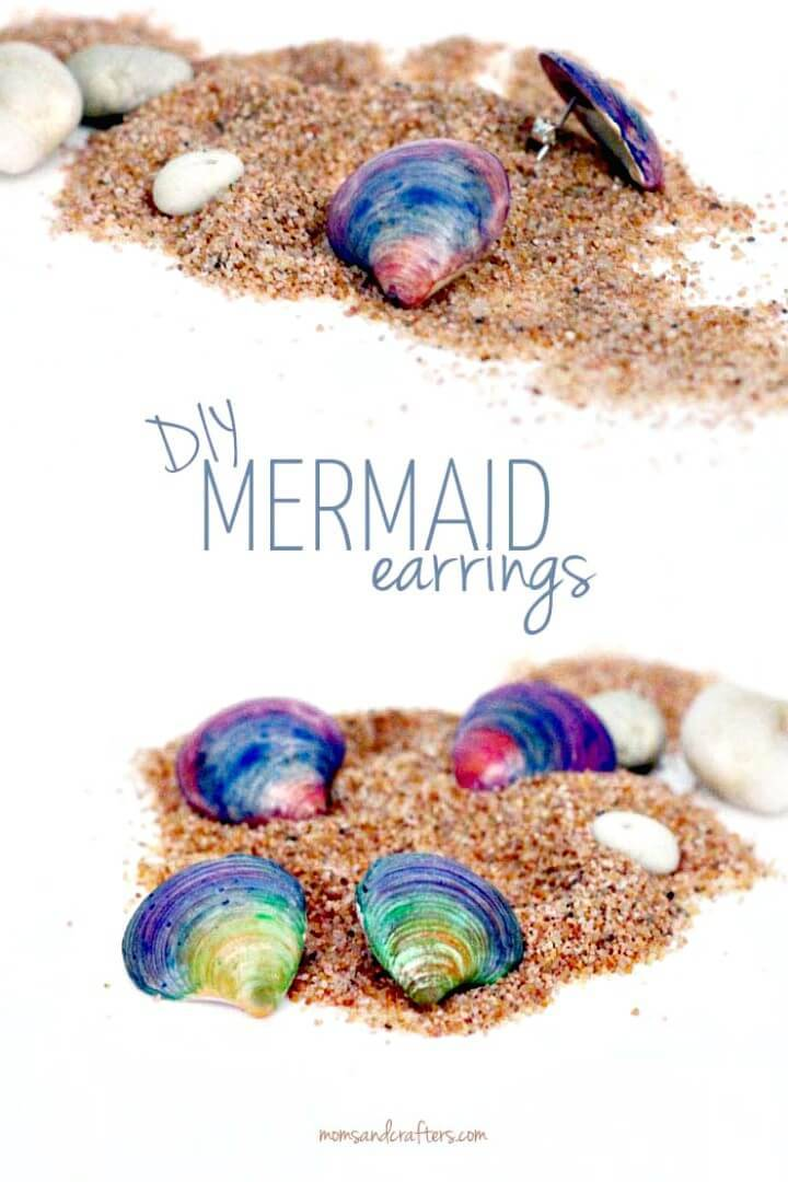 How to DIY Seashell Earrings