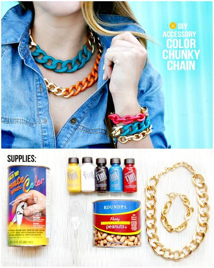 Awesome DIY Bright Chain Necklace