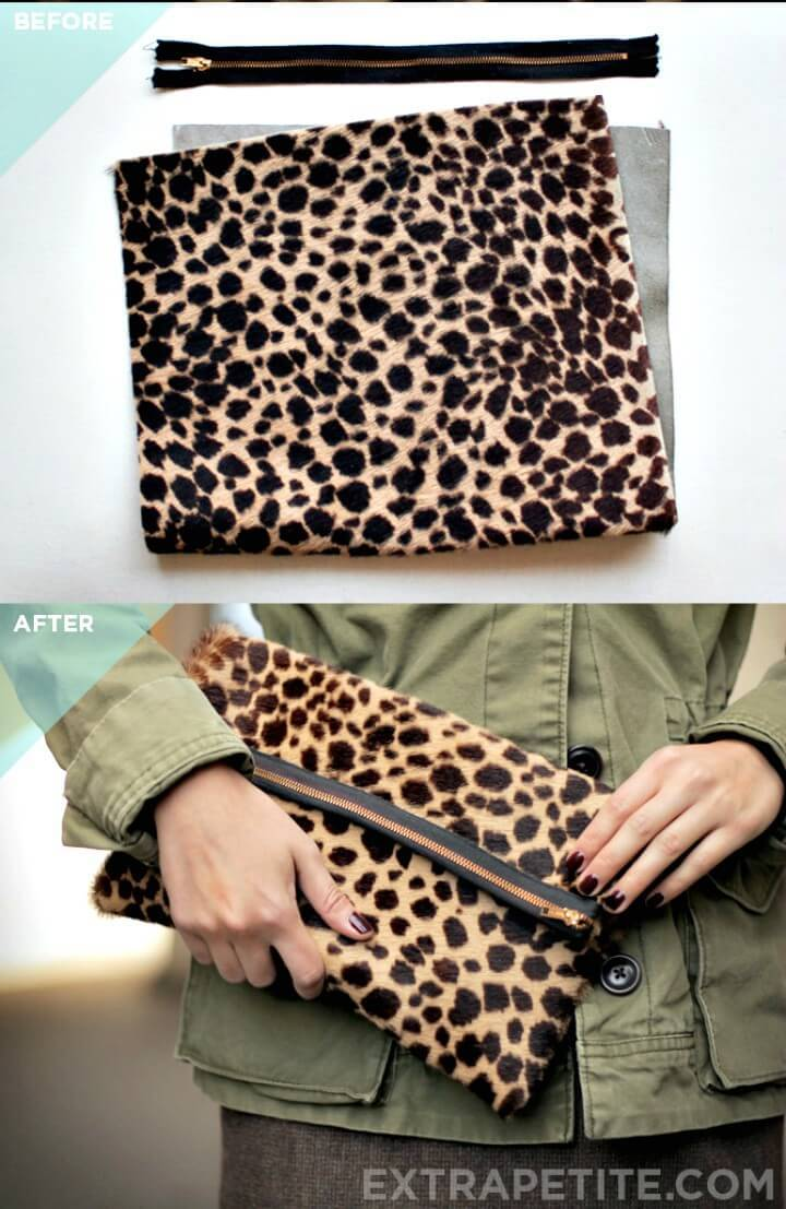 DIY Clutch Bag - Foldover Style Optional