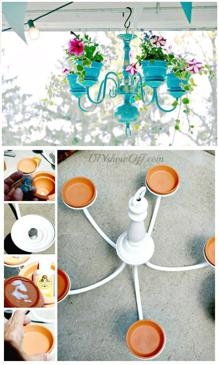 How to DIY Chandelier Planter