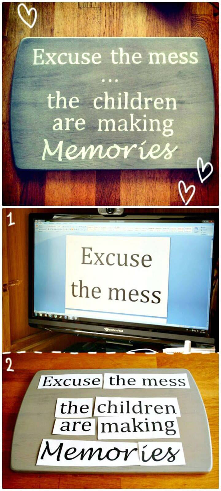 Beautiful DIY Inspirational Quote Sign
