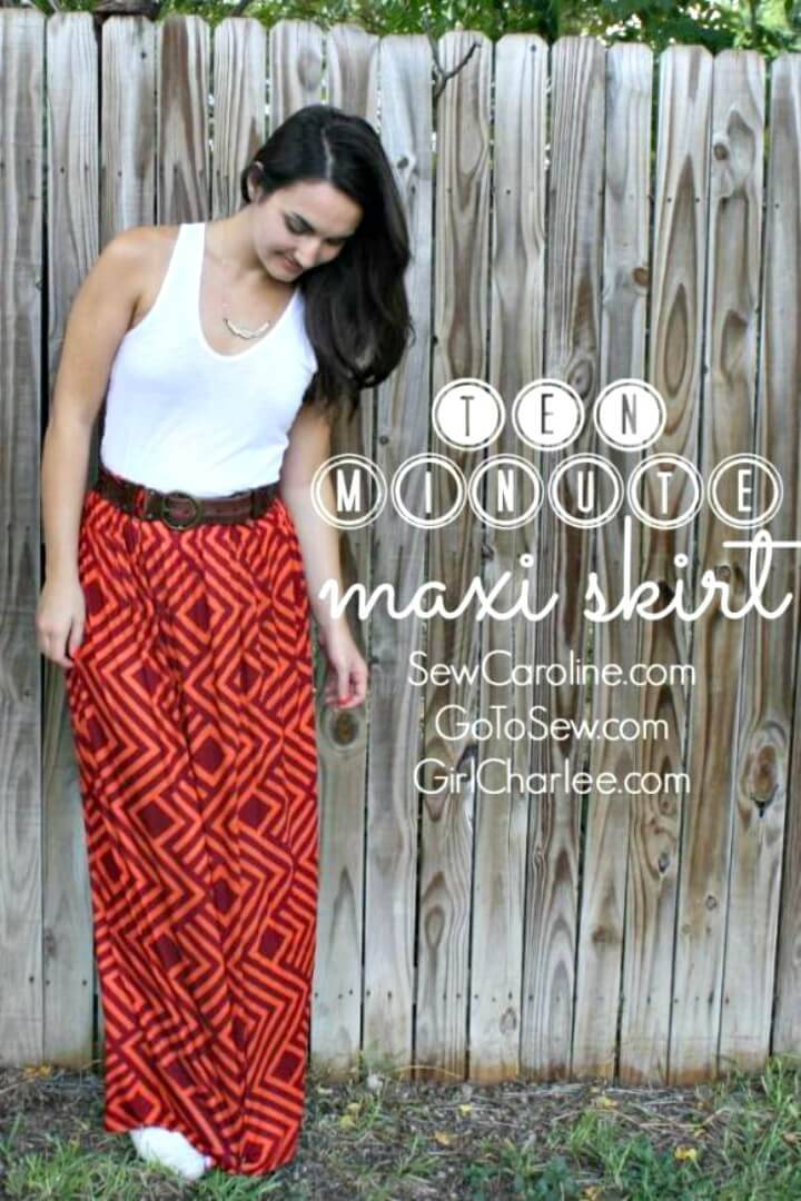 Beautiful DIY Maxi Skirt Tutorial