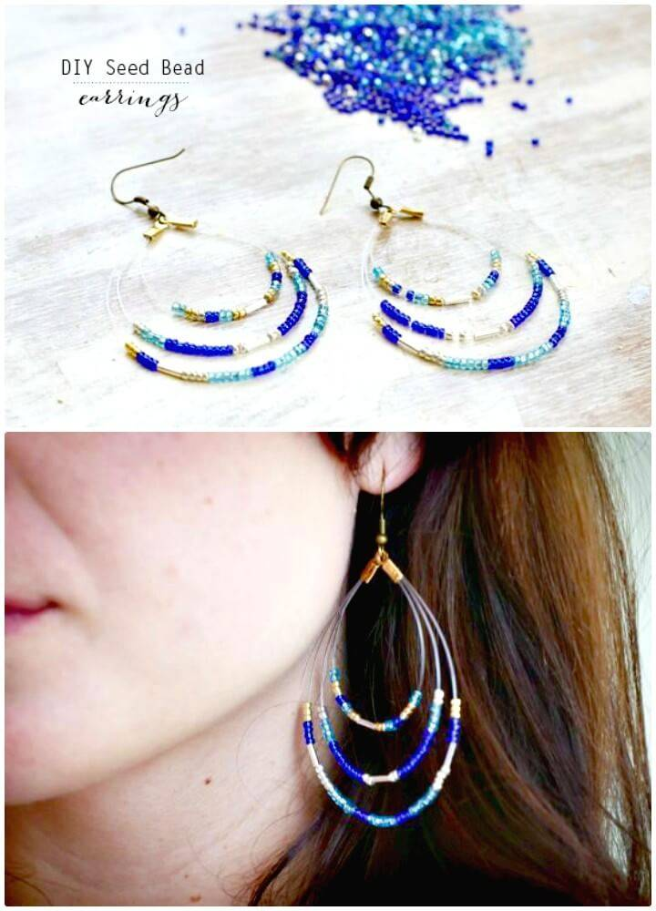 Beautiful DIY Seed Bead Earrings