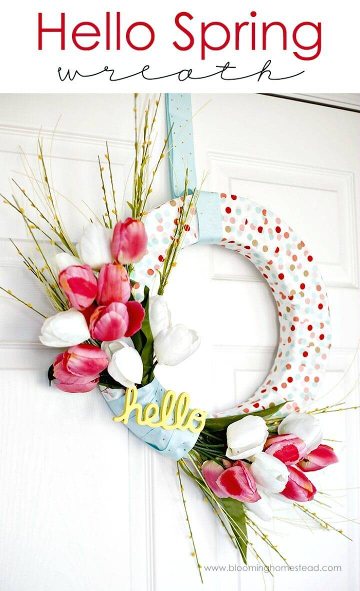 Super Adorable DIY Spring Wreath Tutorial