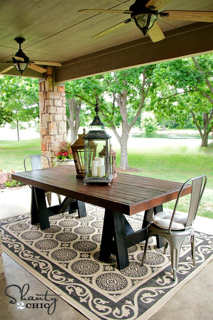 Beautiful DIY Pottery Barn Inspired Table for Your Backyard