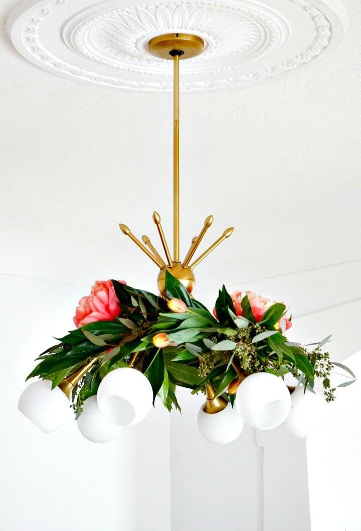 Create Floral Chandelier Garland for Your Room Decor - DIY