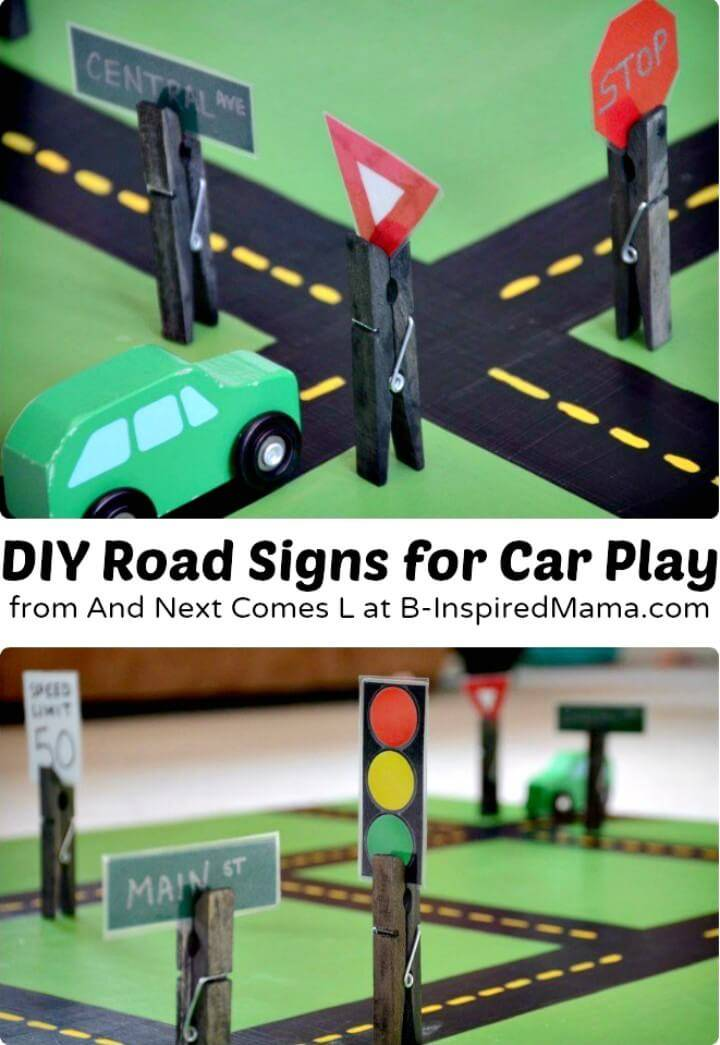 Beautiful and Easy DIY Toys - Fun Road Signs