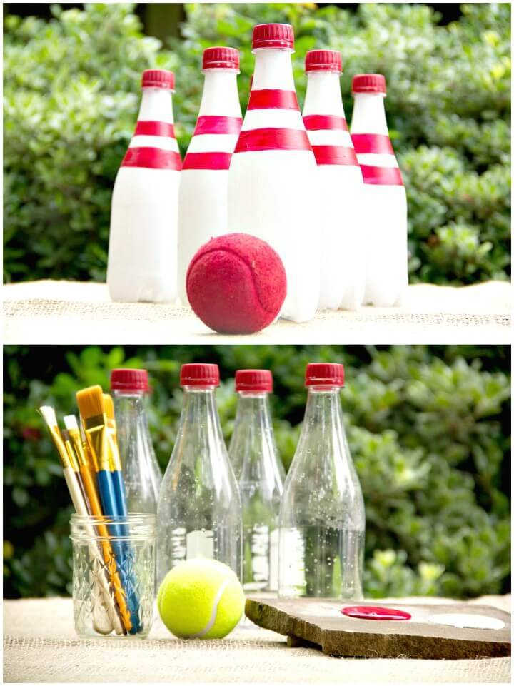 DIY Bowling with Recycled Bottles Game For Summer & Spring