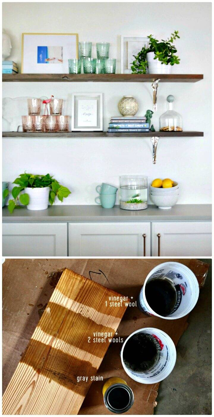 Build A Long Reclaimed Wood Shelves - DIY
