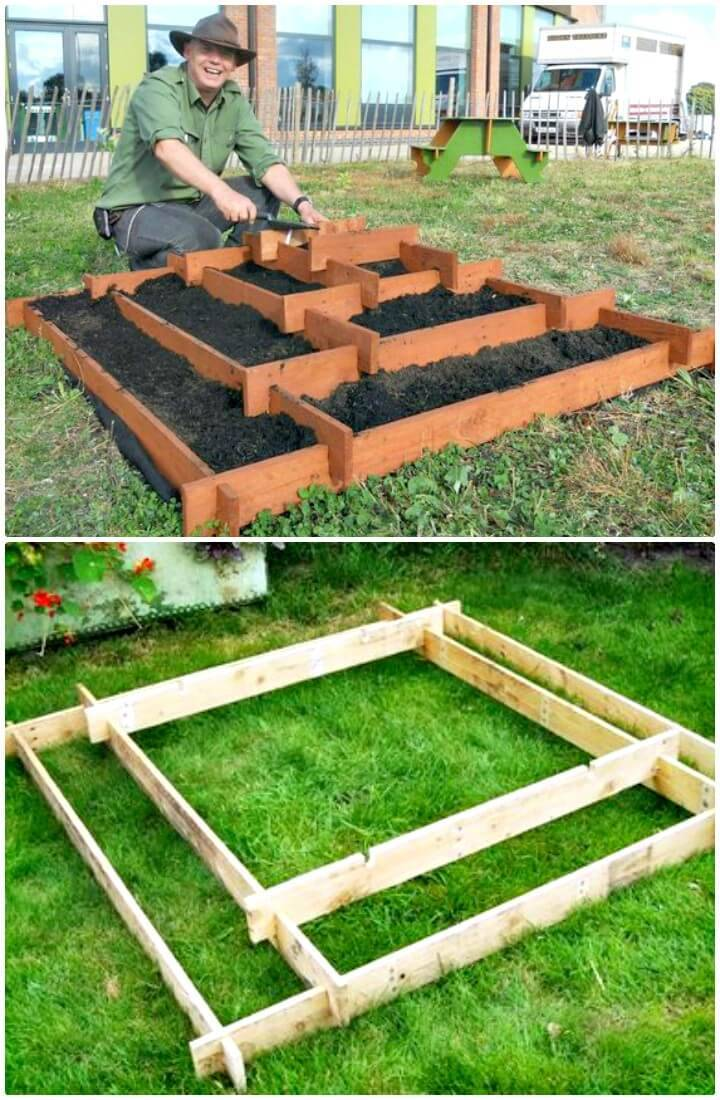 Build A Slot Together Pyramid Garden Planter - DIY