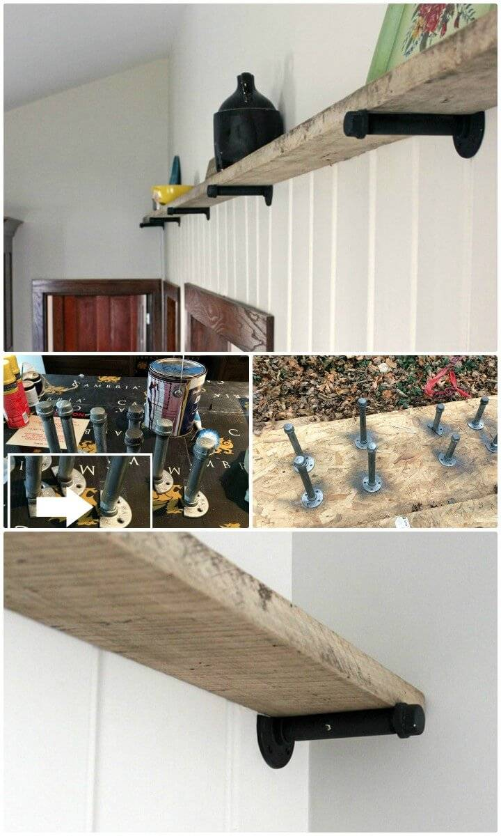 Build Your Own Barn Wood Shelf - DIY