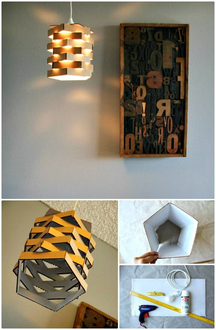 How to Build Your Own Cardboard Chandelier