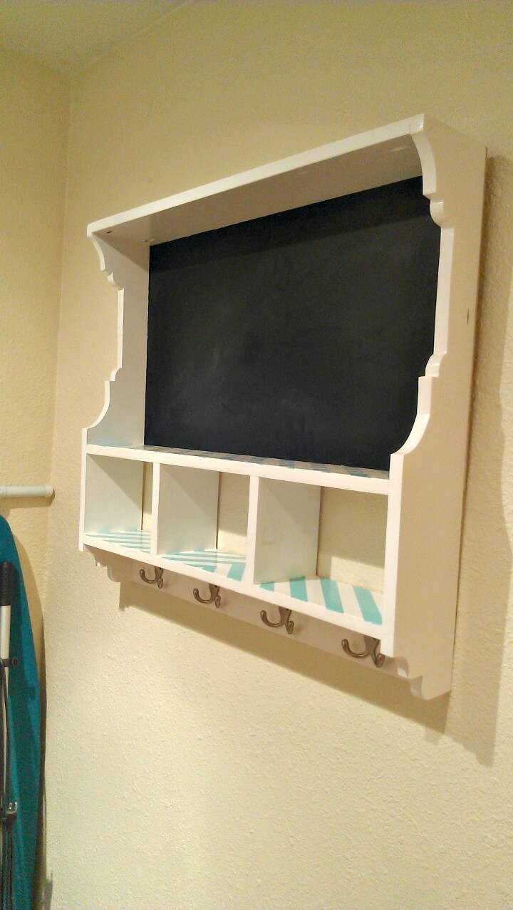 Simple to Build s Chalkboard Cubby Shelf - DIY