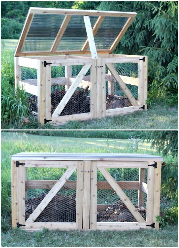 Build Your Own Double Compost Bin - DIY