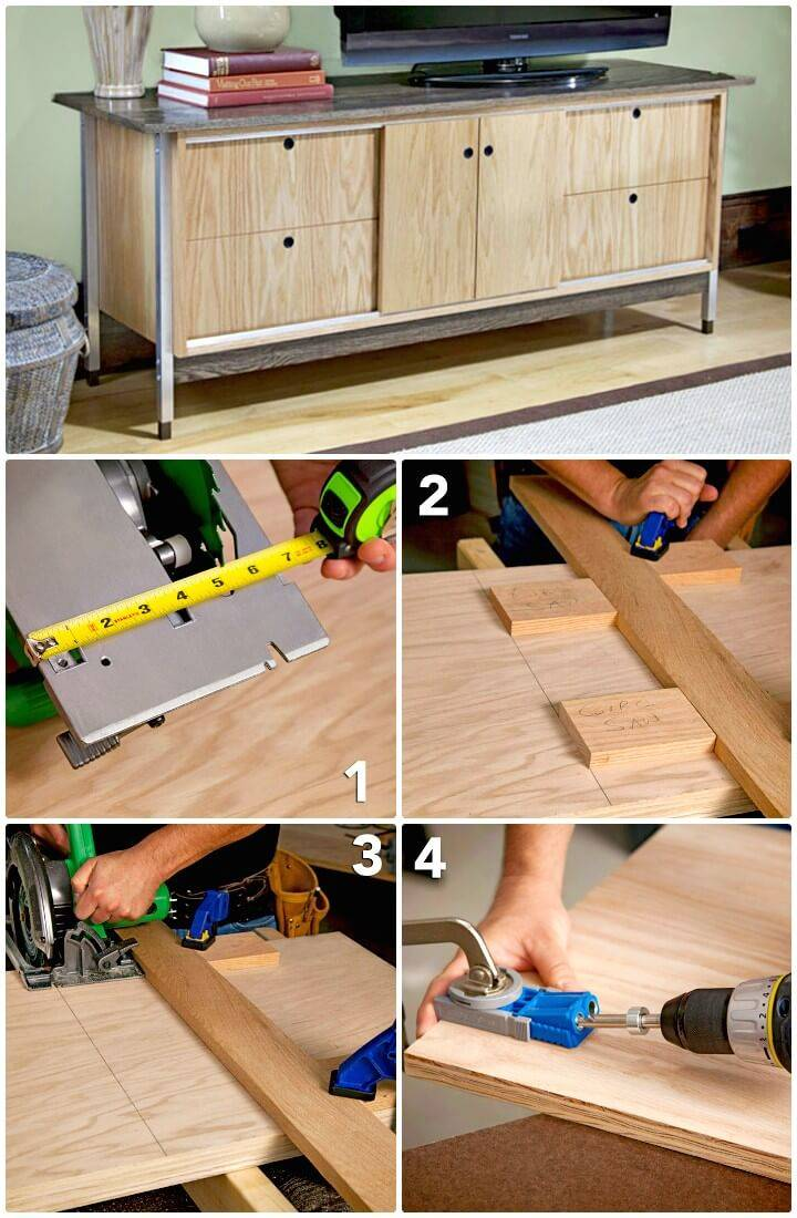 How to Build Your Own Entertainment Center - DIY Pallet Projects