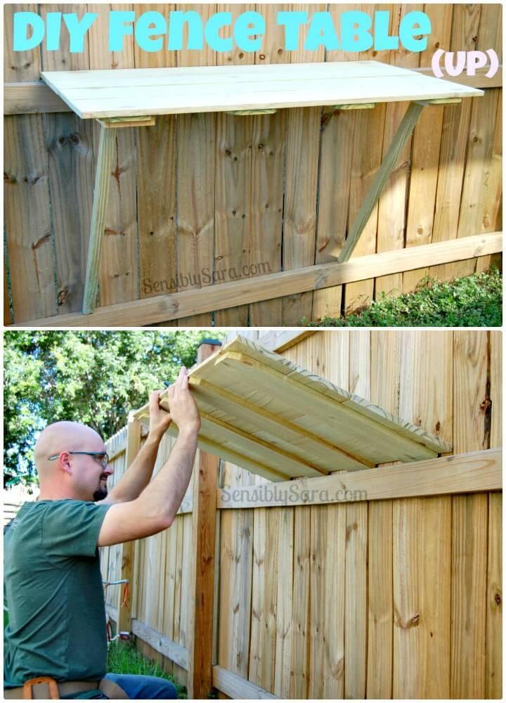 Build Your Own Fence Table - DIY Backyard Ideas