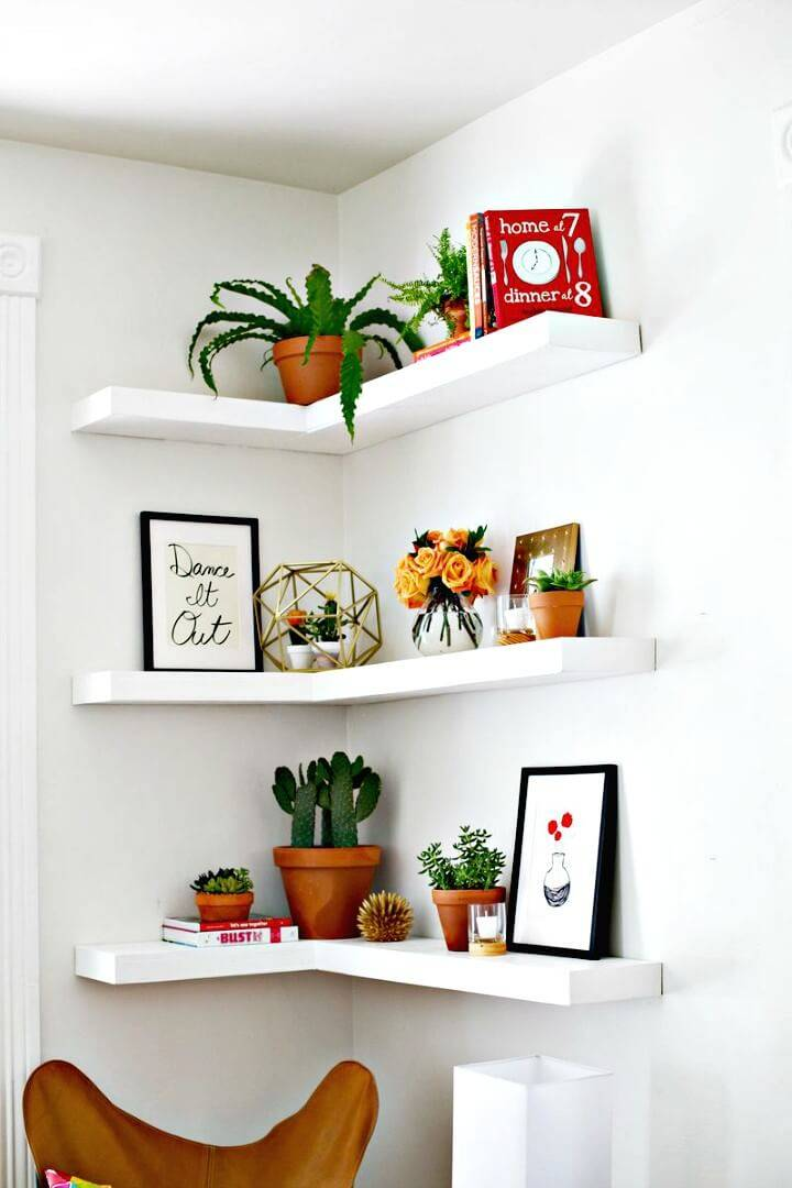 Build Your Own Floating Corner Shelves - DIY