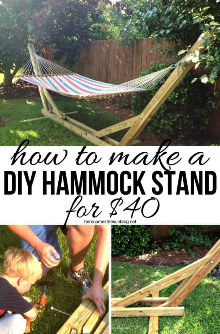 Make Your Own Hammock Stand - DIY