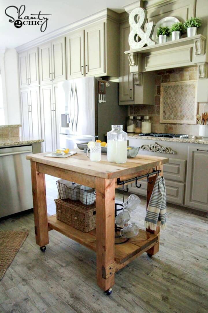 How to Build Your Own Kitchen Island Tutorial