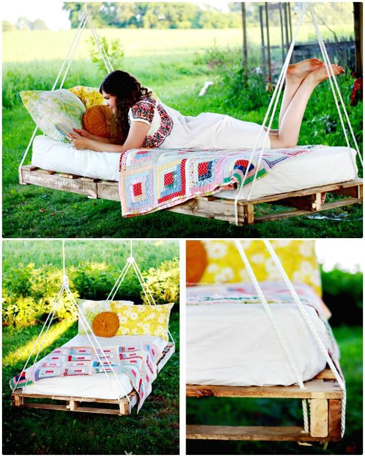 Build Your Own Pallet Swing Bed for Your Garden - DIY