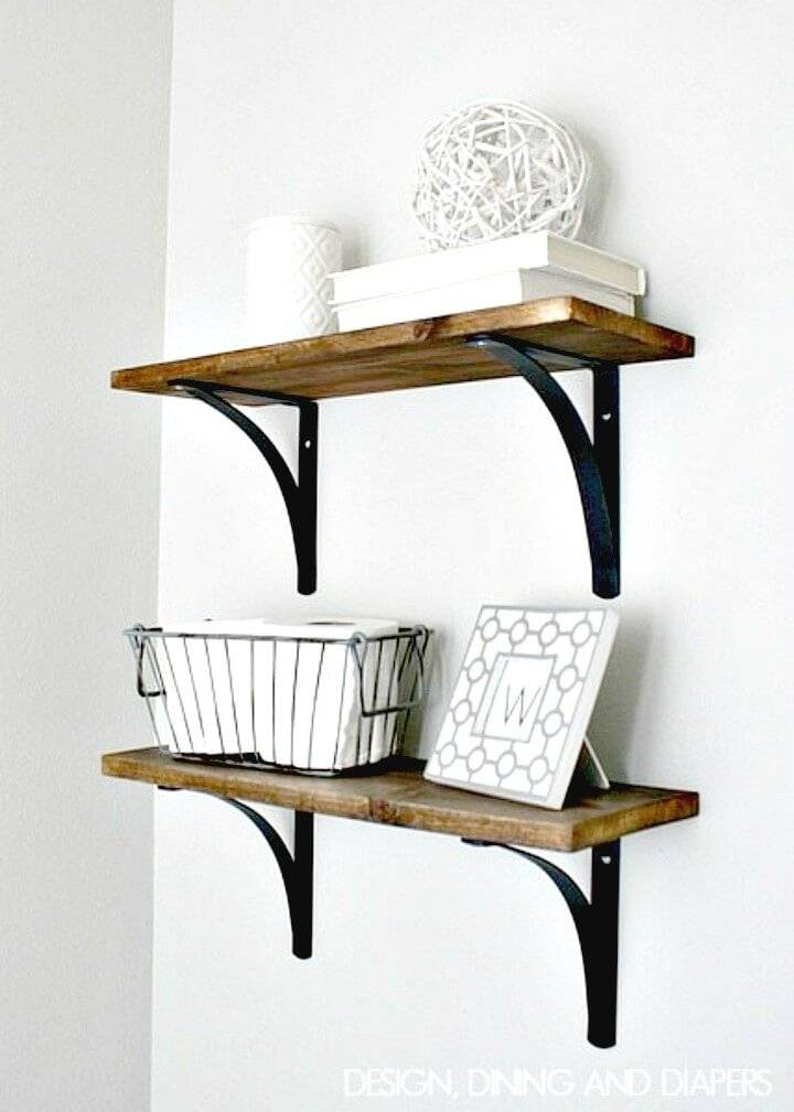 Build Your Own Rustic Bathroom Shelving - DIY