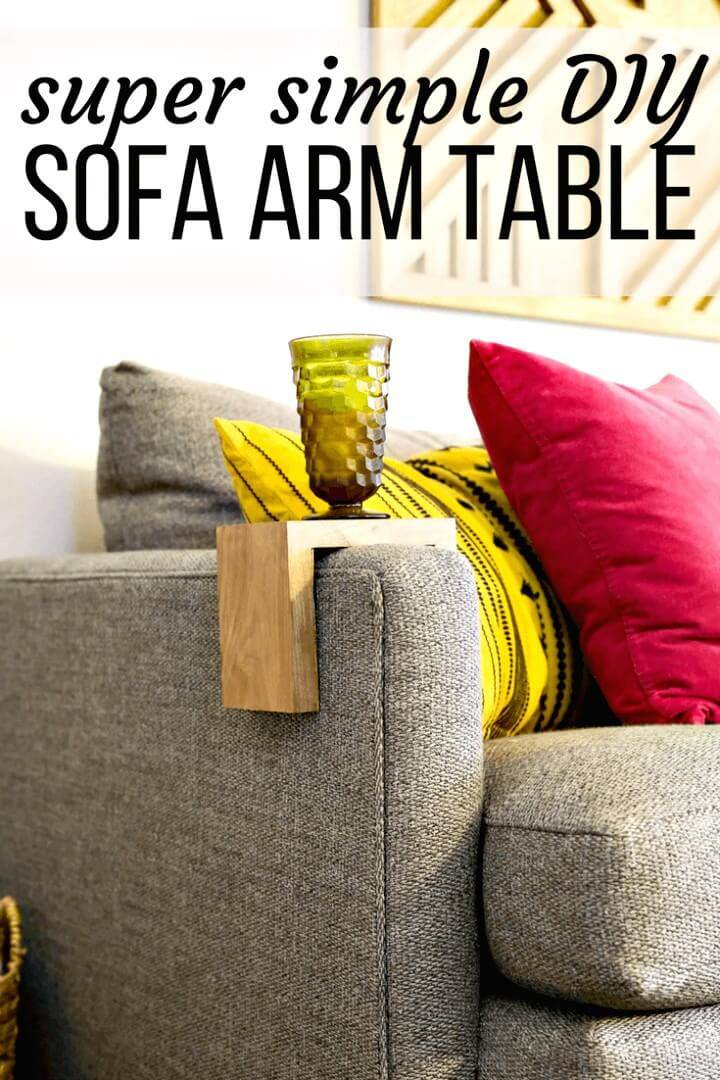 How to Build Your Own Sofa Arm Table
