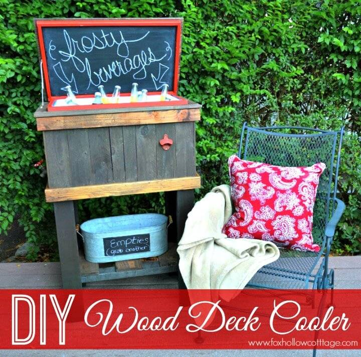 Build Your Wood Deck Cooler - DIY Garden Furniture Ideas