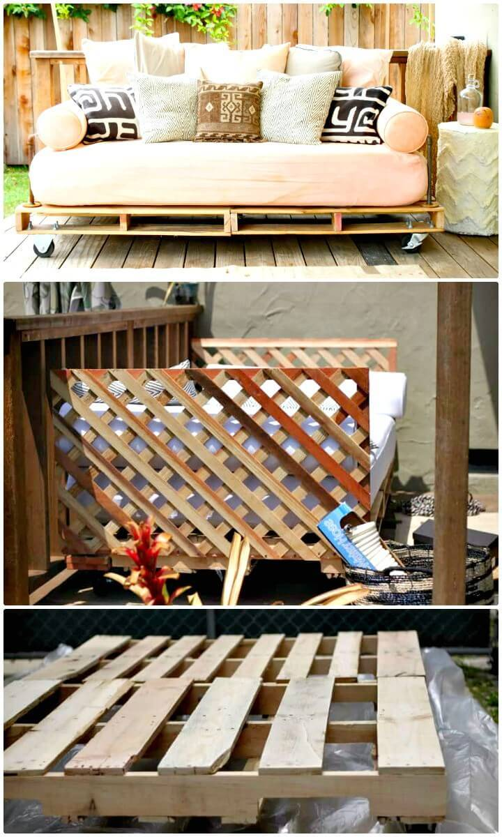Build Your Own a Pallet Daybed - DIY
