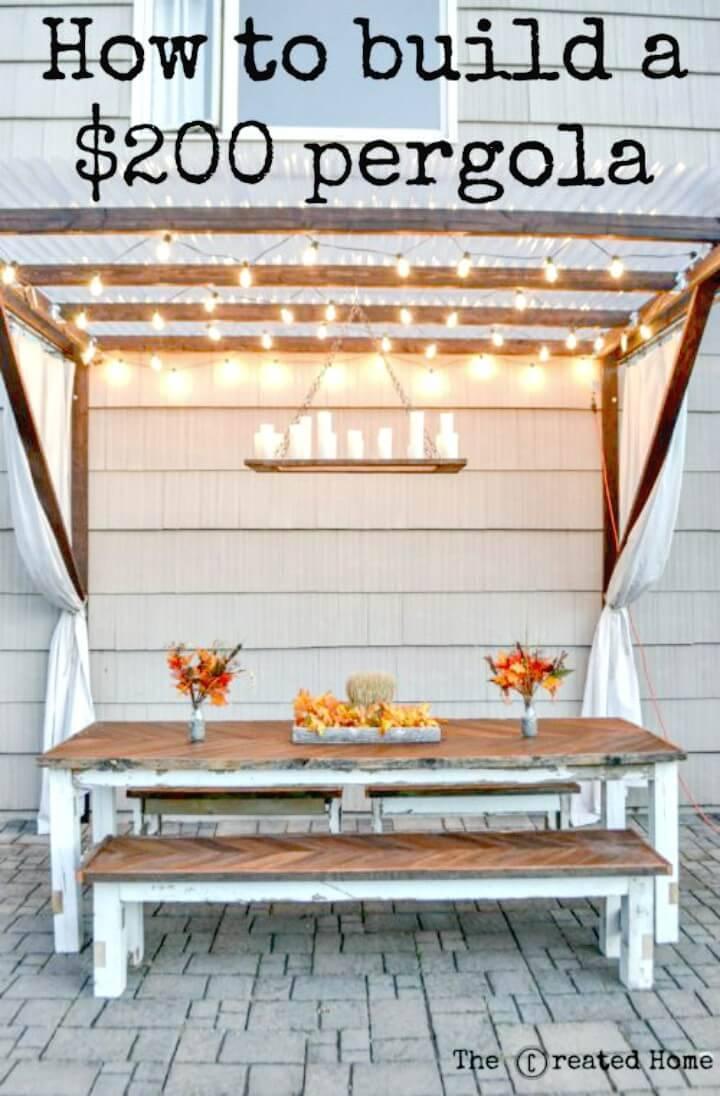 Build Your Own a Super Frugal Pergola - DIY Backyard Ideas