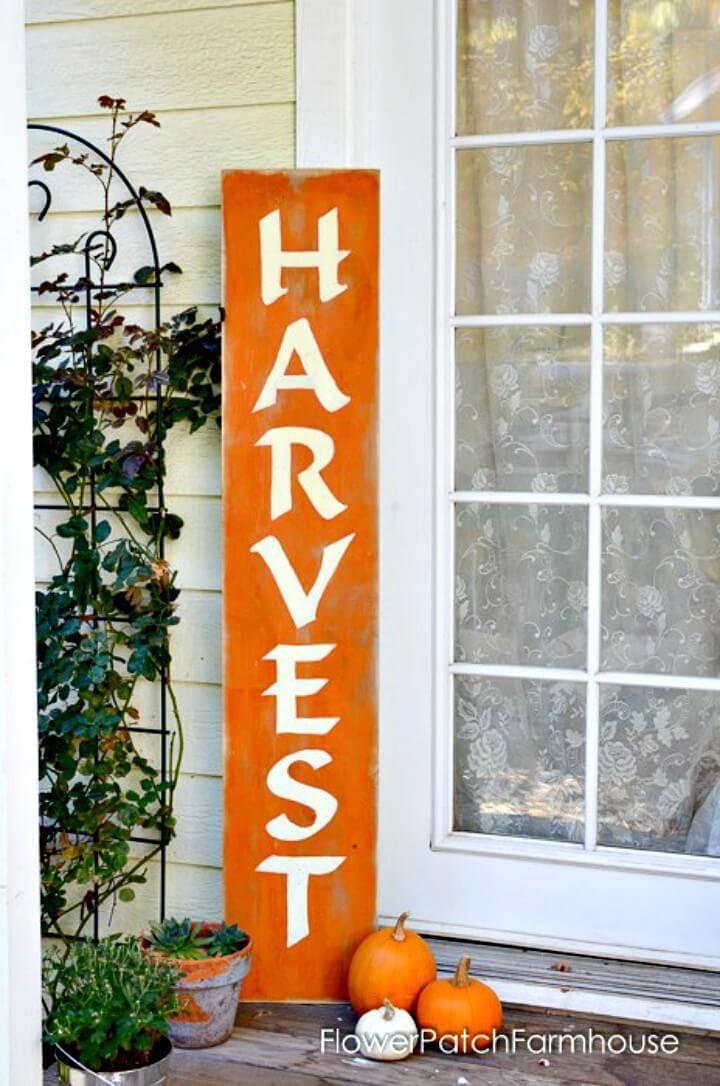 Build a Harvest Sign + Paint Lettering - DIY
