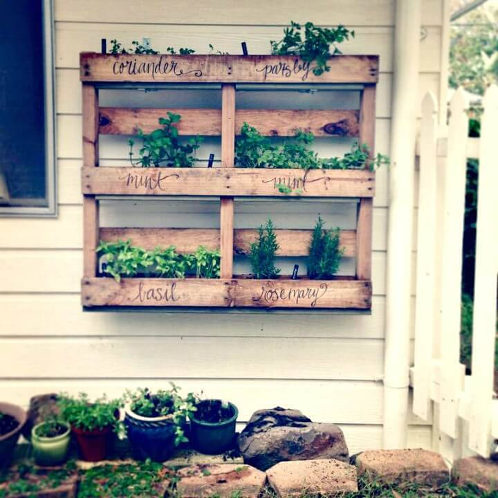 Build Your Own Pallet Herb Garden - DIY
