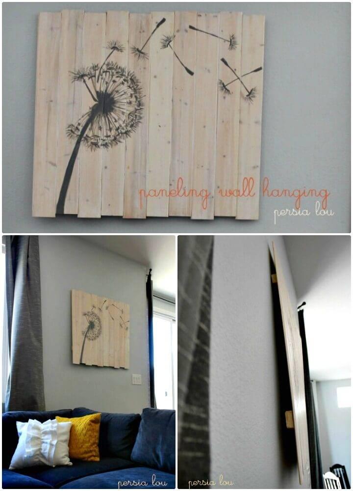 Create Paneling To Wall Hanging - DIY