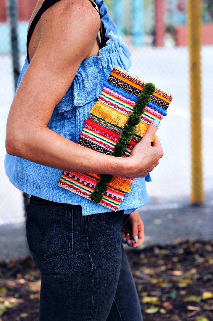 Create Your Own Embellished Straw Clutch - DIY