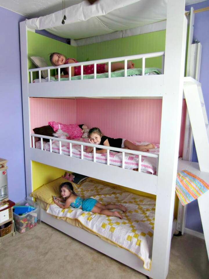 How to Make Custom Triple Bunk Bed - DIY