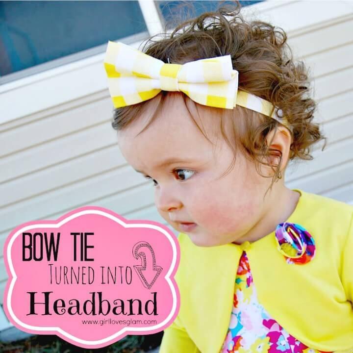 Cute DIY Bow Tie Headband for Kids