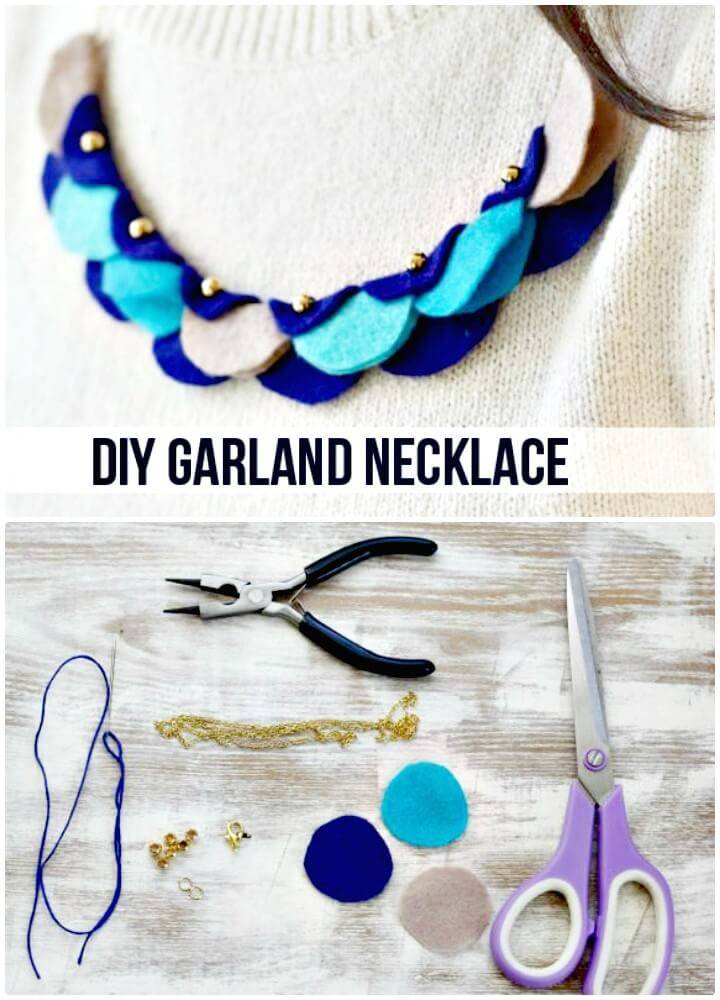Cute DIY Felt Garland Necklace
