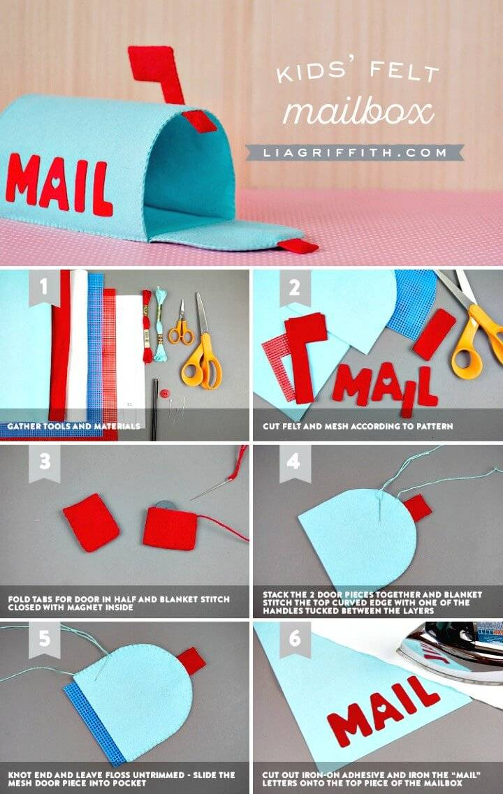 Cute DIY Felt Mailbox for Kids