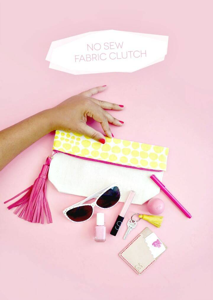 Cute DIY No Sew Clutch Tutorial